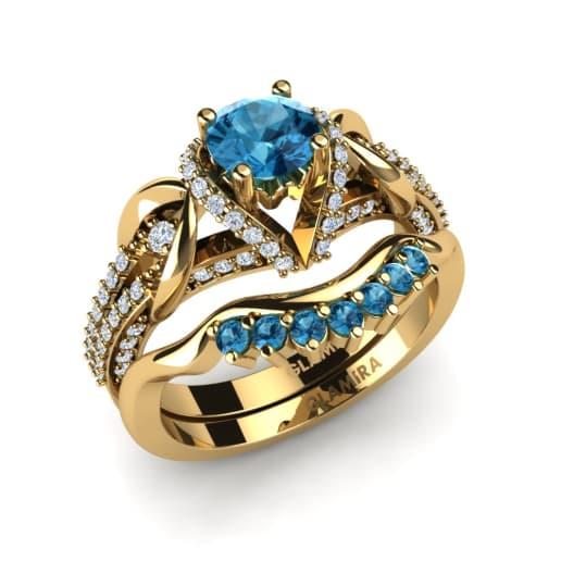 glamira bridal set crinkly - Topaz Wedding Ring