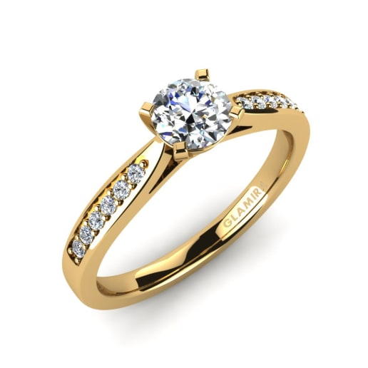 Buy 585 Yellow Gold Engagement Rings