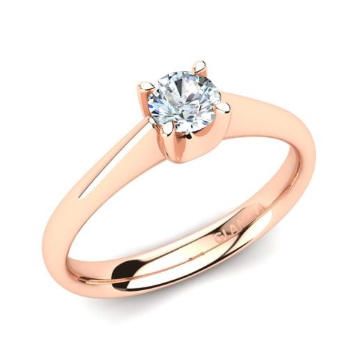 5fa22635 Comprar 585 Oro Rosa - Anillos de compromiso | GLAMIRA.com.co