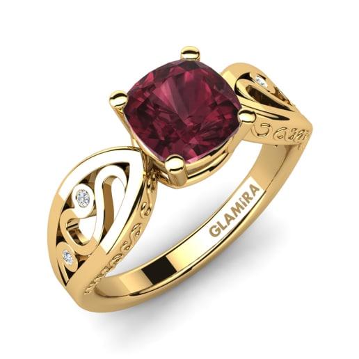 glamira ring fresa - Garnet Wedding Rings