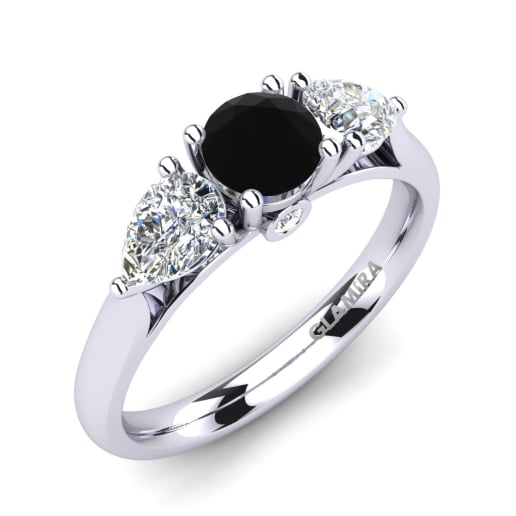 engagement jewellery black princess diamond ring cut