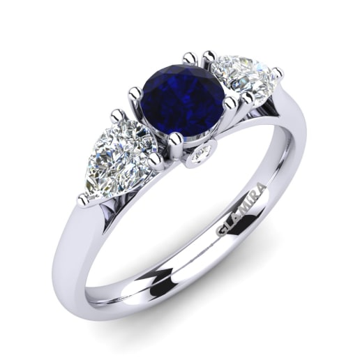 a sapphire ring natural rings white gem engagement
