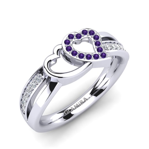 amathyst palladium diamond jewelry gabrielle green with oval amethyst ring engagement rings