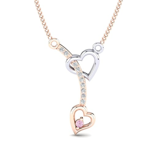 heart and order friday on now in pink sapphire white diamond necklace yellow pendant psapp ships business gold days or