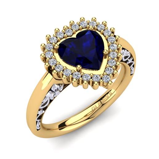 Encomende Safira - Anéis de Noivado   GLAMIRA.com.br b098e90d77