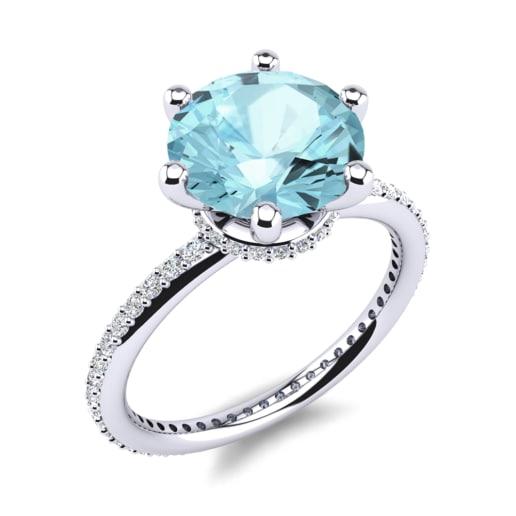gold white aquamarine ring rings emerald pid cut aqua engagement and diamond gemstone