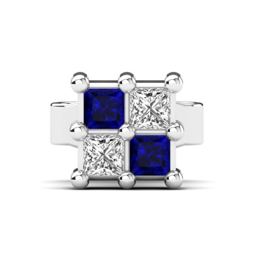 nl jewelry round white cut blue stud men with sapphire mens for in gold wg earrings