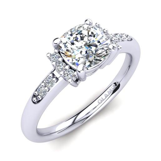 06b8c6936 Kúpiť Biele-585 - Zásnubné prstene | GLAMIRA.sk
