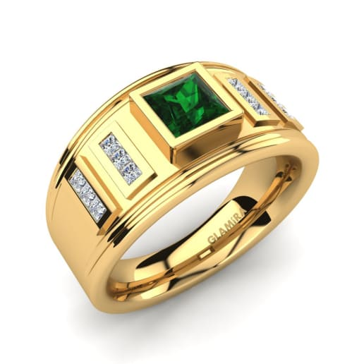 emerald ring scher yellow diamond fancy cut products