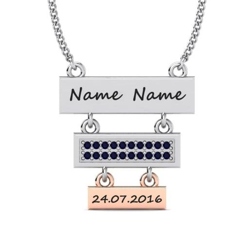 Köp Swarovski Mörkblå - Initial   Namn halsbanden  1ac2b645ff5f3