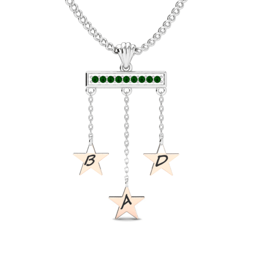 Köp Swarovski Grön - Initial   Namn halsbanden  437f21f24c9da