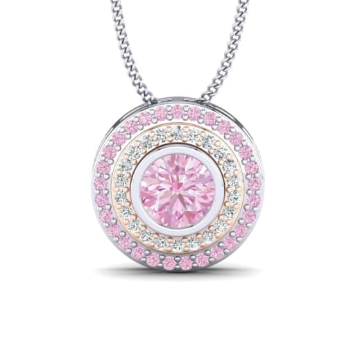 pendant carat design fashion diamond best cushion item synthetic nscd love pink engagement style diamonds halo sweater wholesale girl necklace cut new