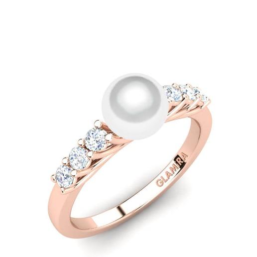 4eada37ab0ee Compre Perla blanca - Anillos de compromiso