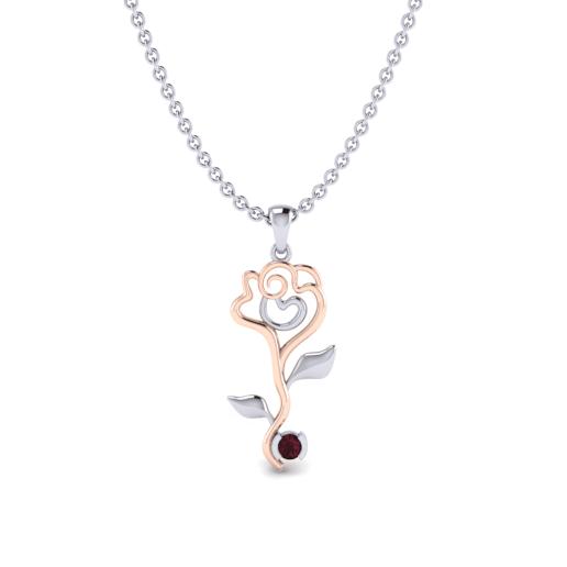 18f0e25df193 Glamira Colgante Felicie - Oro Blanco   Rosa 750