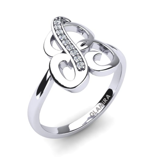 Buy Diamond Initial Name Rings Glamira Co Uk
