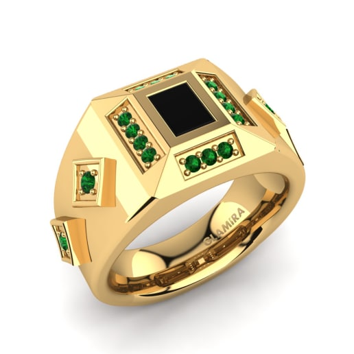emerald shop gold mens solid ring rings diamond jewelry made pinky yellow custom
