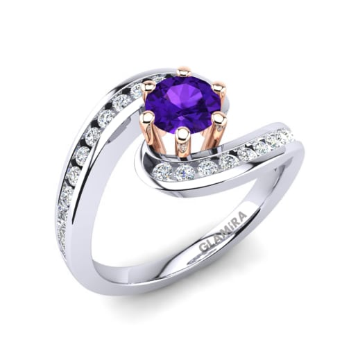 bridal amethyst rings custom shop jewelry vidar engagement set unique ring