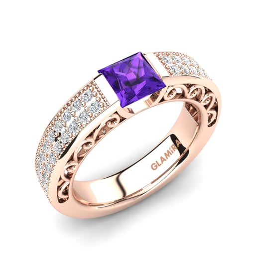 diamond for amethyst ring amatyst rings round frame silvet engagement with shop