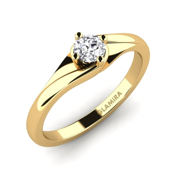 GLAMIRA Ring Alfrida 0.16 crt