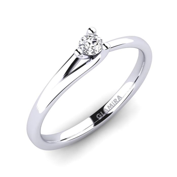 GLAMIRA Anillo Bridal Heart 0.1crt
