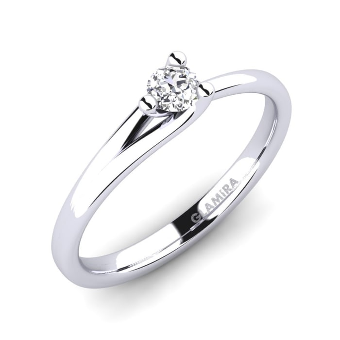 GLAMIRA Ring Bridal Heart 0.16crt