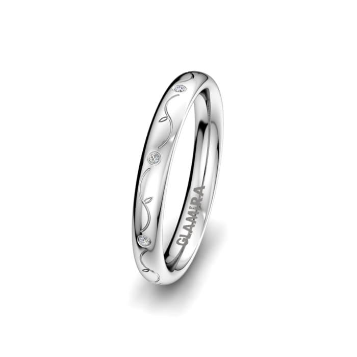 Women's ring Brilliant Rose 3 mm