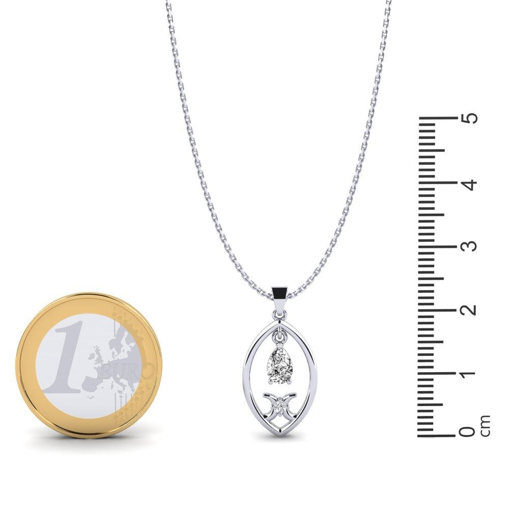 et créé White Sapphire Larme Pendentif N créé émeraude Argent sterling