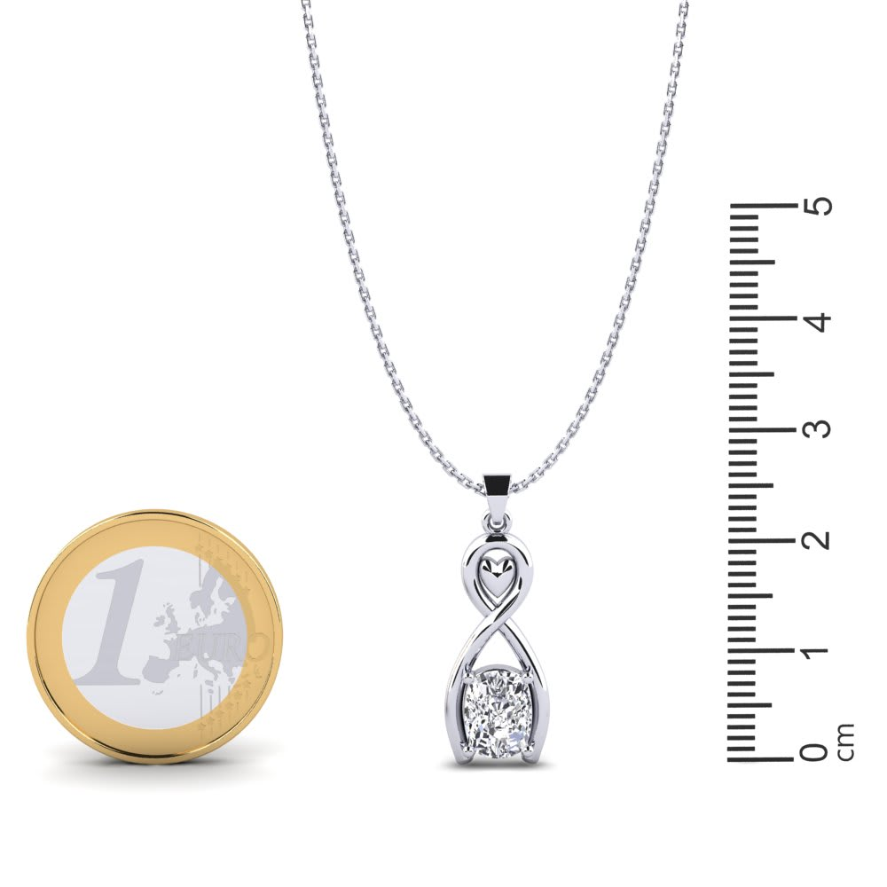 MoAndy Stainless Steel Three Horizontal Three Vertical Hollow Shape Pendant Necklace for Men