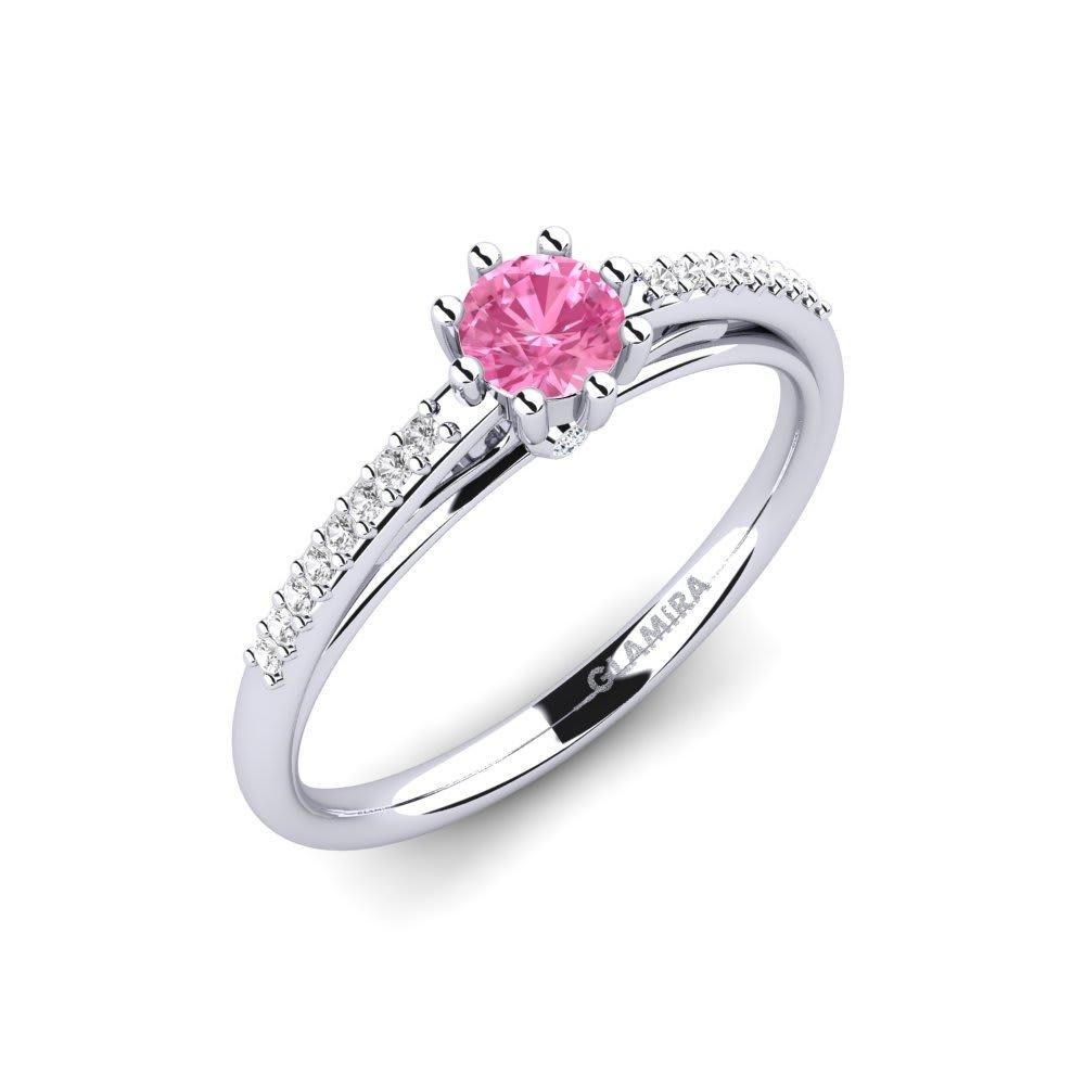 b677f8d8 585 Hvitt gull Rosa Safir & Hvit Safir Diamant