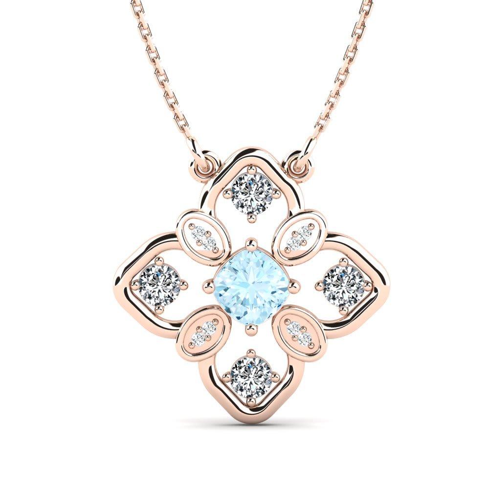 f0ba5a872d1d Oro Rosa 375 Aguamarina   Cristal de Swarovski Cristal de Swarovski