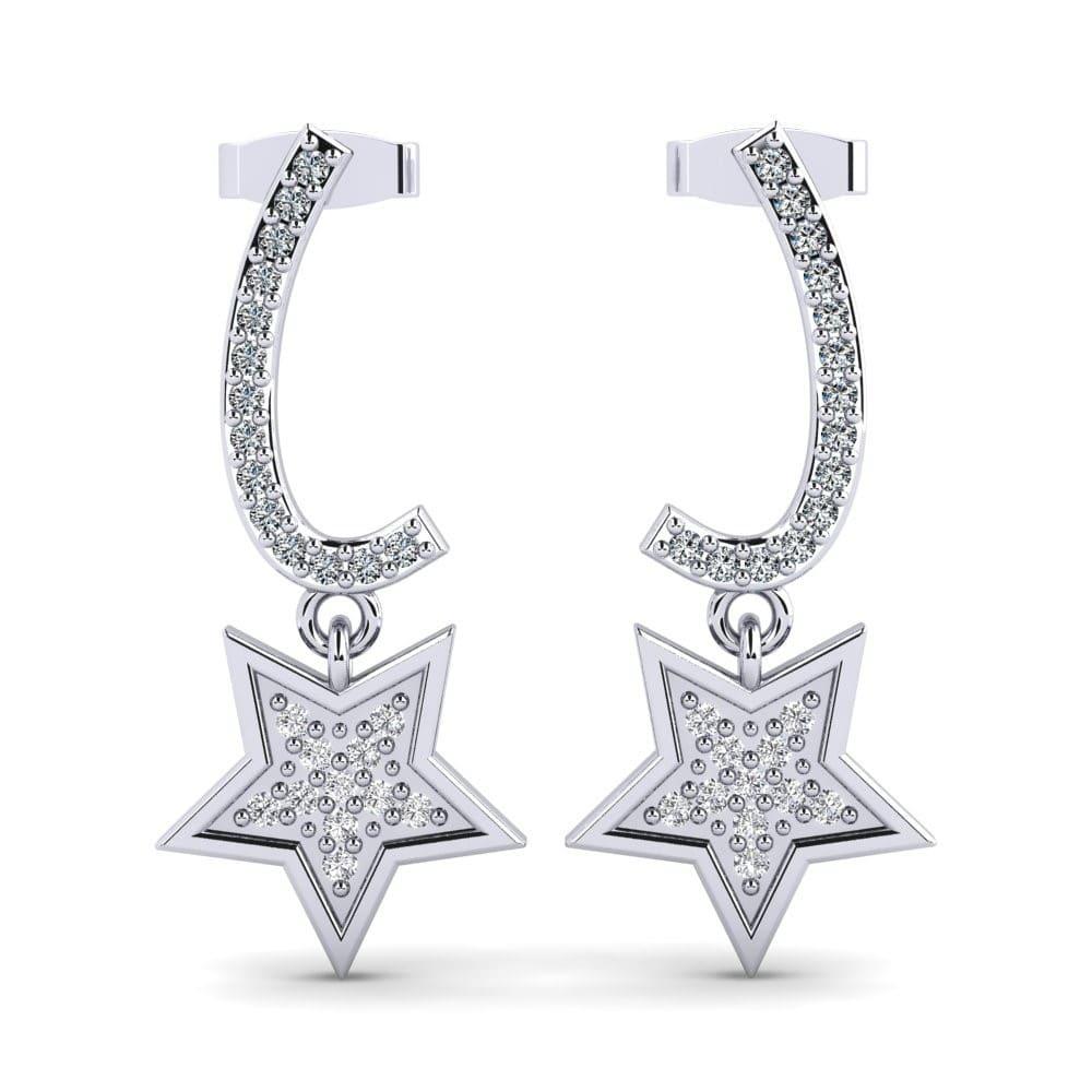 crystal drop earrings Beautiful 12cm long ROSE gold tone waterfall diamante