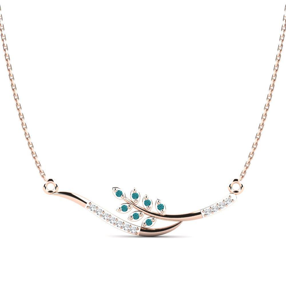 eb2113542923 Oro Rosa 375 Diamante Azul   Cristal de Swarovski