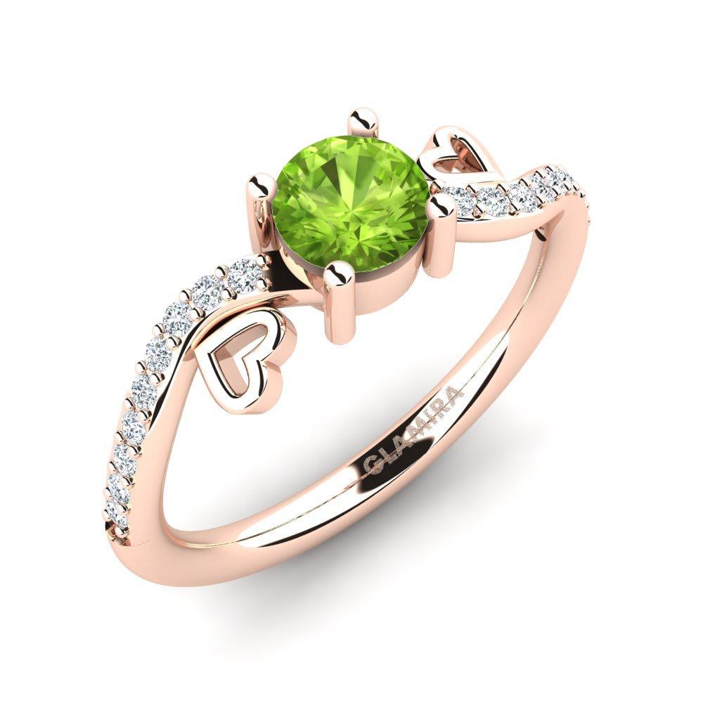 e085bcc84f1f Oro Rosa 375 Peridoto   Cristal de Swarovski