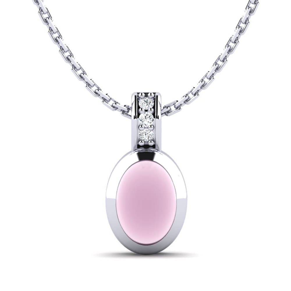 Necklaces & Pendants Jewelry & Watches White Topaz Quartz Oval Cut Gems Silver Plated Long Chain Necklace To Adopt Advanced Technology