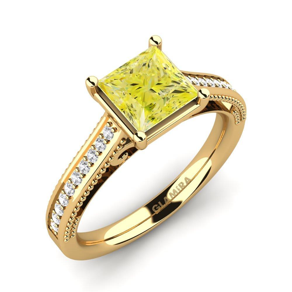 08ba25ed429e Oro Amarillo 585 Diamante Amarillo   Zafiro blanco