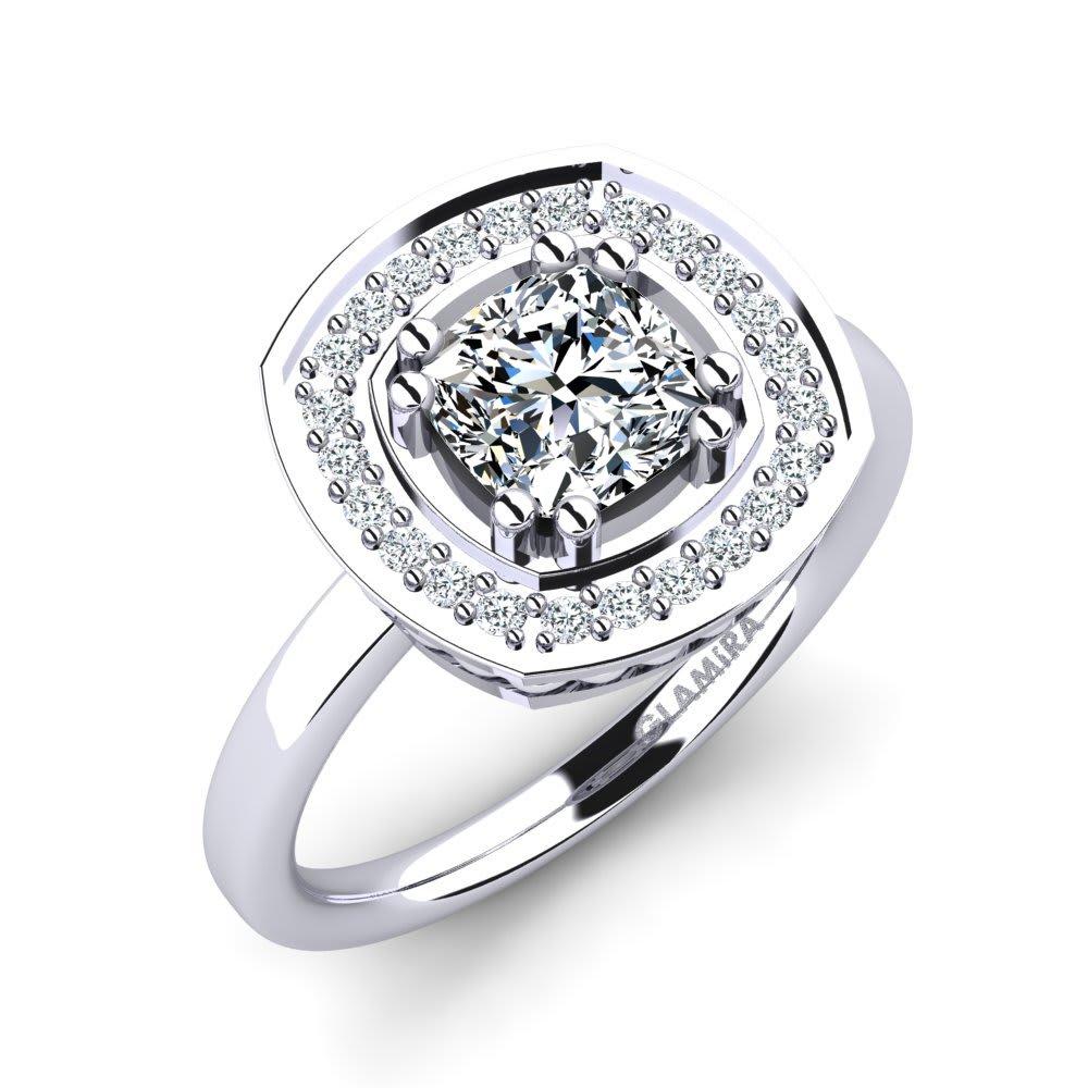 bde8a1597b5d Oro Blanco 375 Cristal de Swarovski