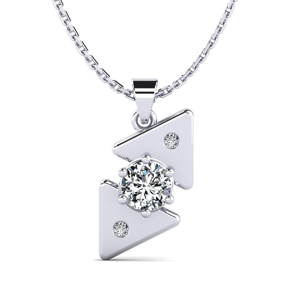 Diamante Silver Plated Sparkling 3D effect Initial Pendant Necklace in box
