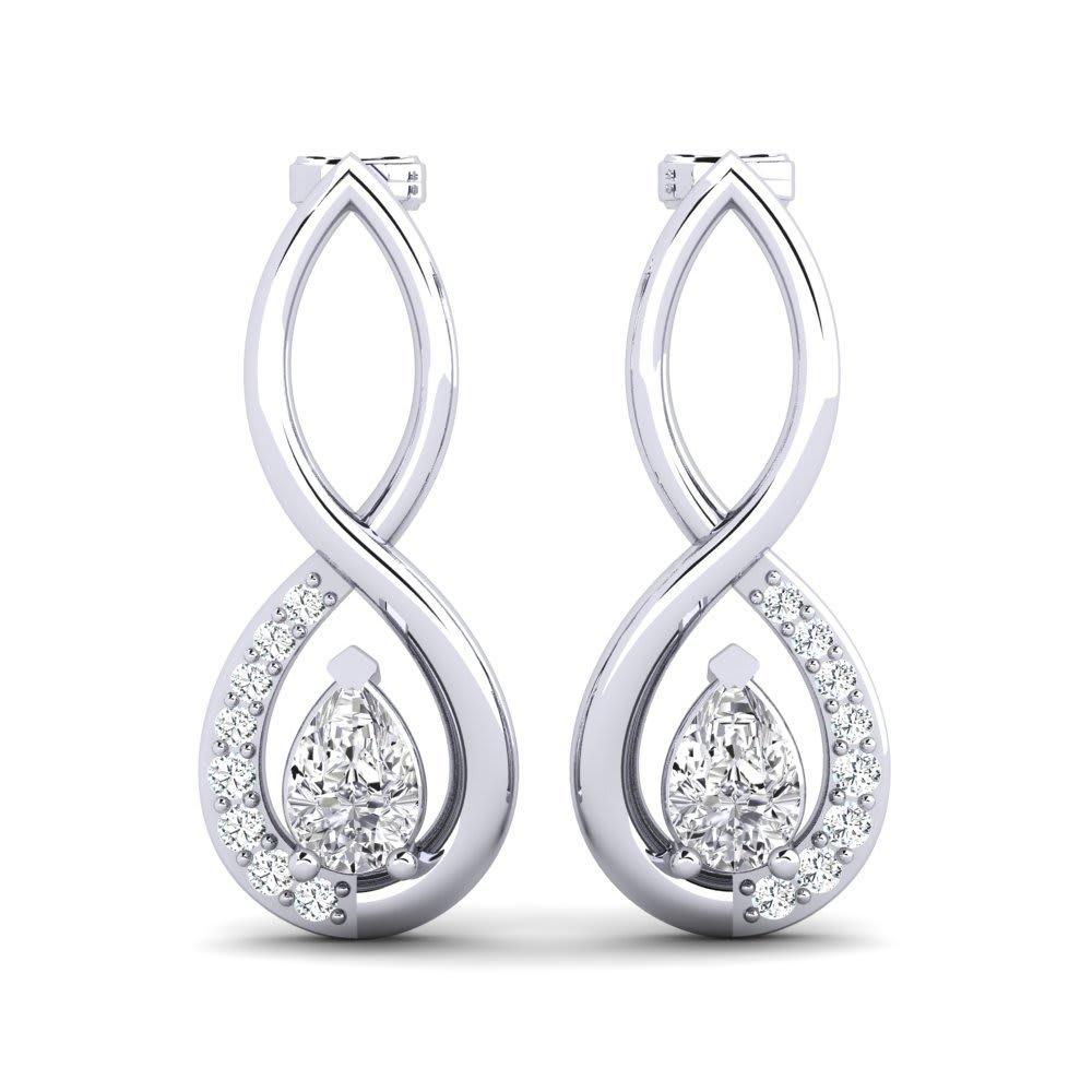 8473fa08f4ef 375 White Gold Diamond   Swarovski Crystal
