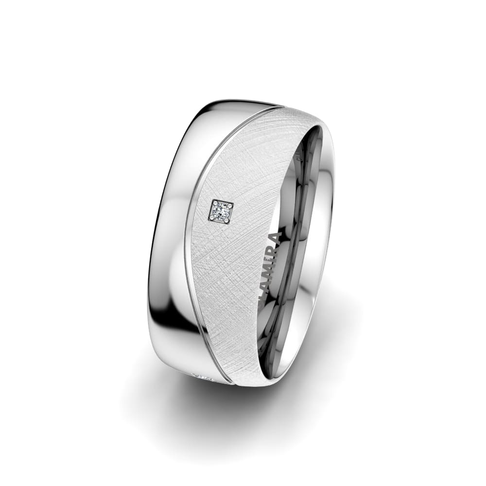 Women's Ring Bright Square 8 mm