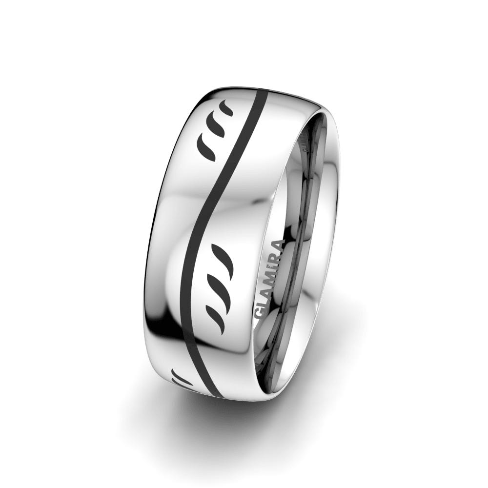 Men's Ring Essential Flower 8 mm