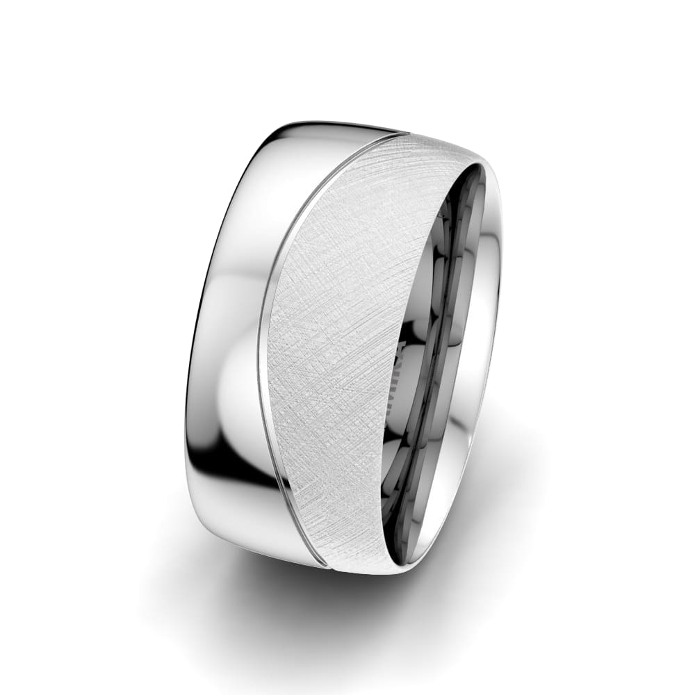Men's Ring Bright Square 10 mm