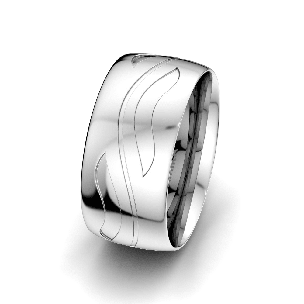 Men's Ring Fever Ribbon 10 mm