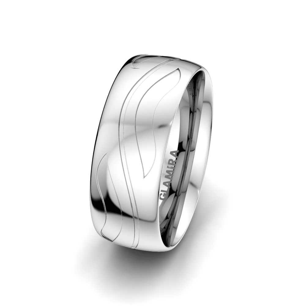 Men's Ring Fever Ribbon 8 mm