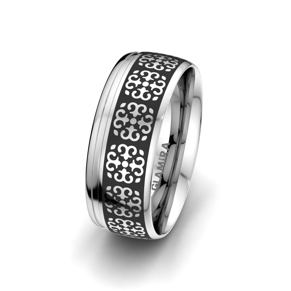 Men's Ring Charming Surface 8 mm