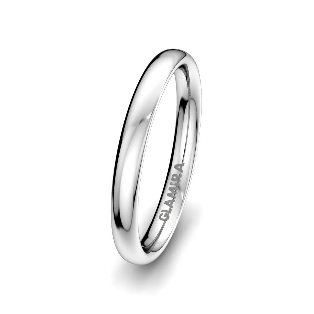 Men's ring White Love 3mm