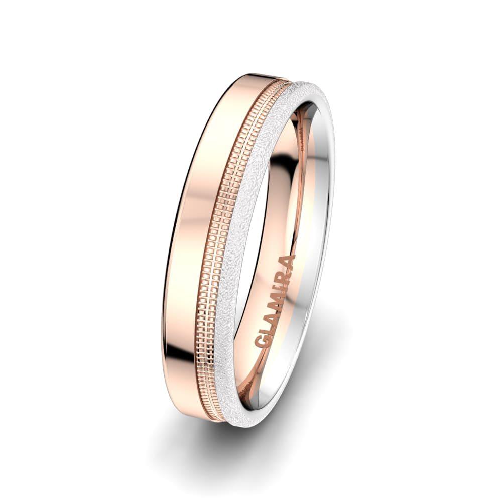 Men's Ring White Daisy 5mm