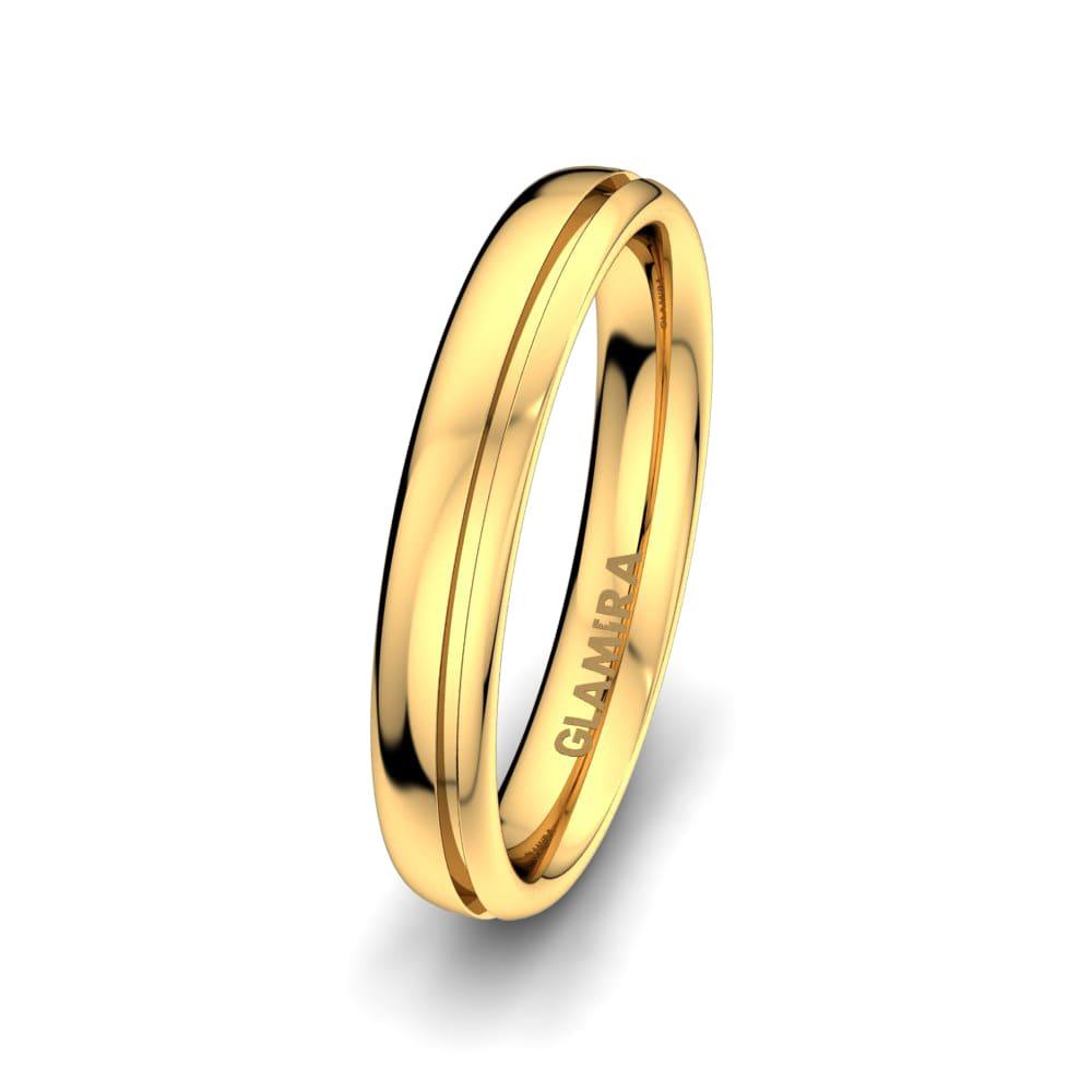 Men's Ring White Fay 4 mm