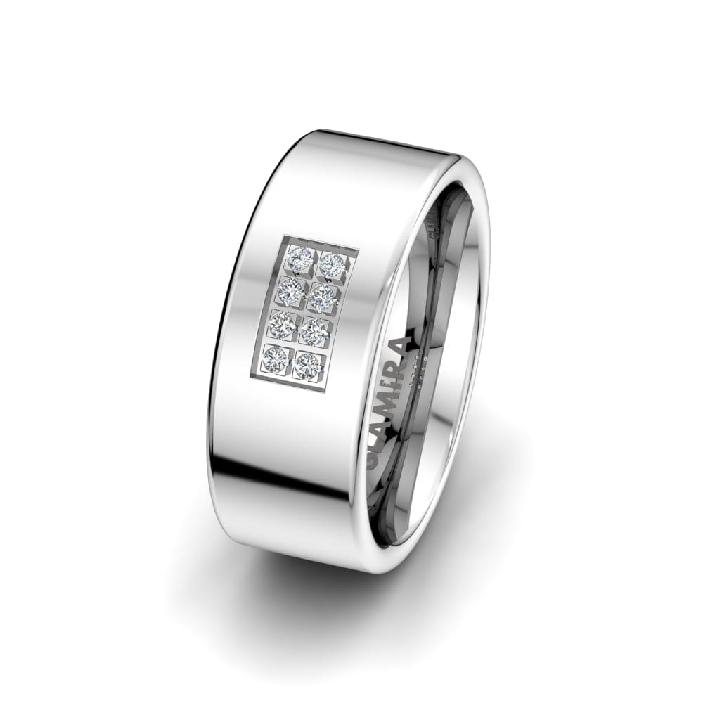 Anello da donna White Light 8 mm