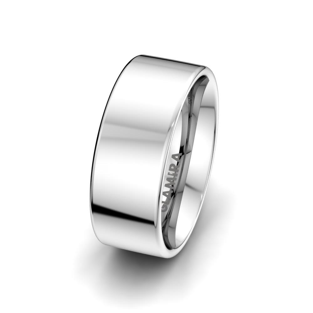 Anello da uomo White Light 8 mm