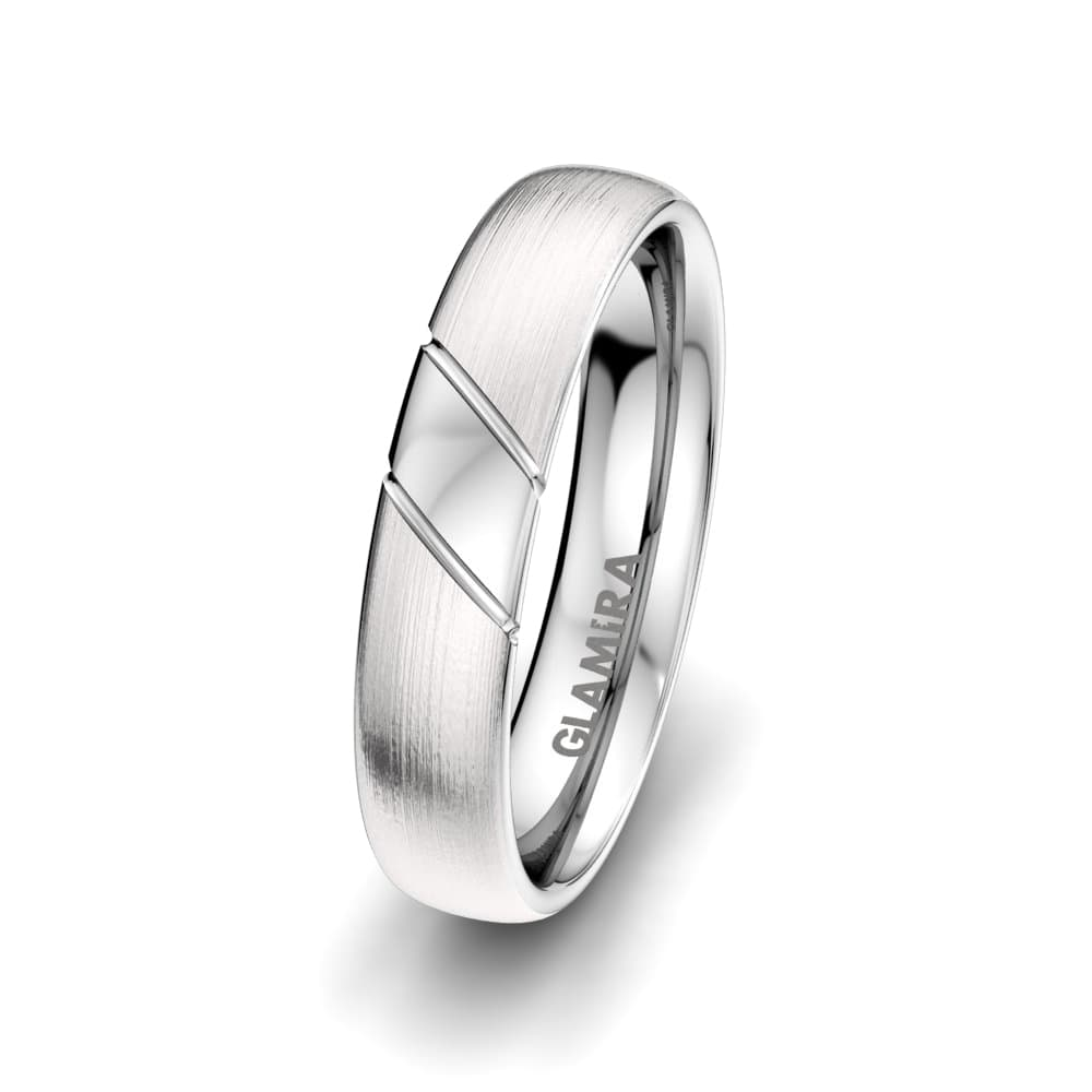 Men's Ring White Feather 5mm